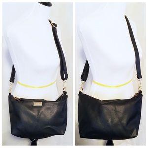 BCBG ~ Black Pebbled Crossbody Bag